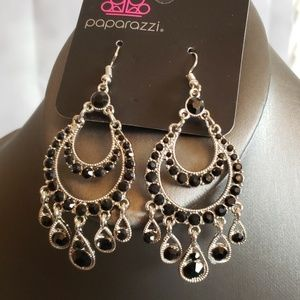 New Earrings Black and Silver